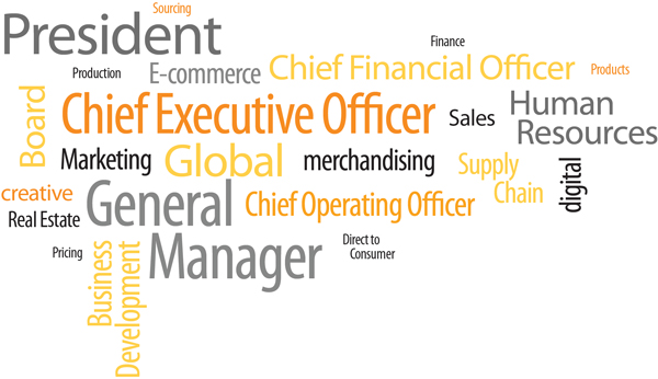 Function Expertise, Chief Executive Officer, CEO, President, General Manager, Board, Chief Operating Officer, COO, Chief Financial Officer, CFO, Human Resources, HR, Business Development, BD, Marketing, Merchandising, Digital, E-commerce, Supply Chain, Creative, Sales, Real Estate